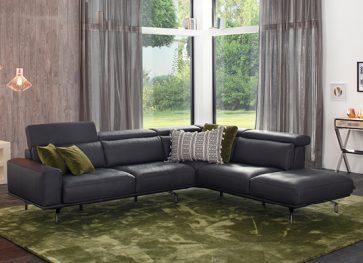 Wohnhalle-Sofa-Leder-schwarz