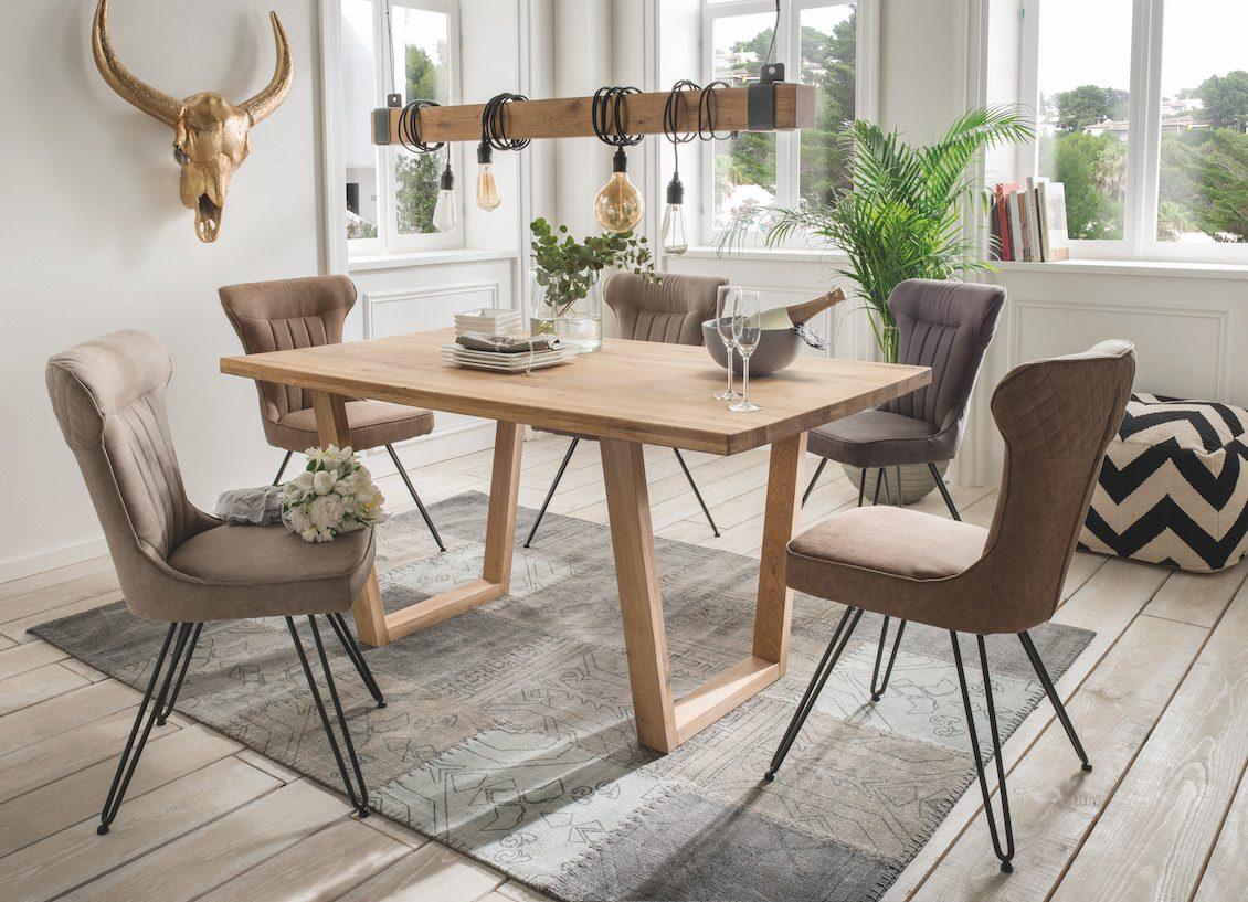 Wohnhalle Esstisch Tisch Stuhl